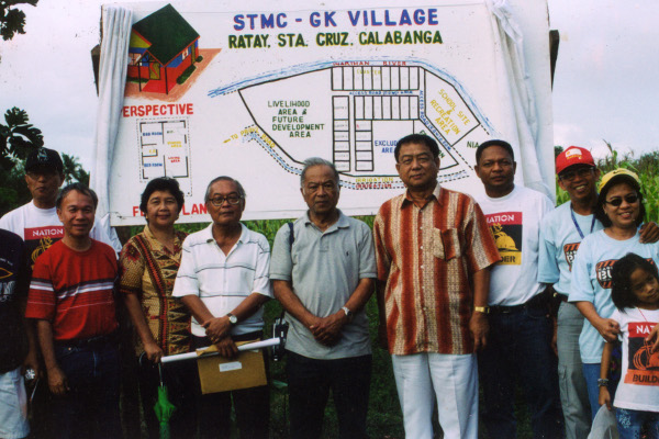STM and Gawad-Kalinga ground-breaking ceremonies